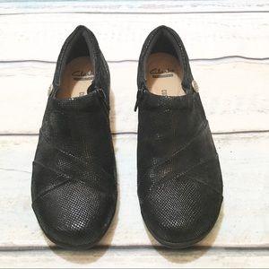 Clark's Soft Cushion Channing Essa Metallic Shoes